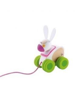 Mini jouet à traîner lapin - Sevi