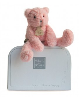 Peluche chat rose histoire d'ours