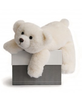 Peluche ours polaire histoire d'ours