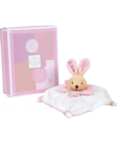 doudou acidulé lapin rose de doudou et compagnie