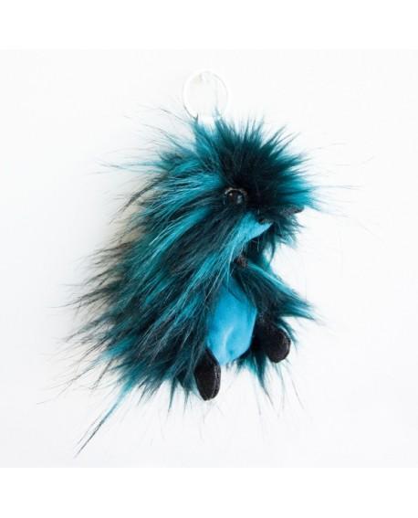 peluche porte clé coin coin punkie blue