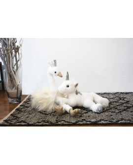 peluche cygne blanc histoire d'ours