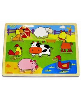 """Puzzle en bois """"ferme"""" - Janod"""